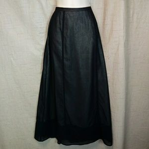 Eddie Bauer Sheer Cotton Maxi Skirt m Illusion